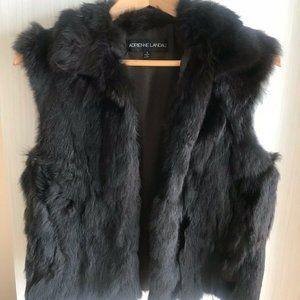 Adrienne Landau Genuine Fur Vest Size Small
